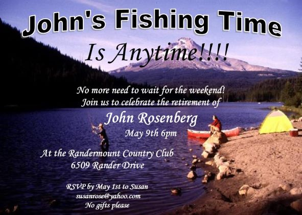 Fishing Party invitations NEW selections Summer 2018