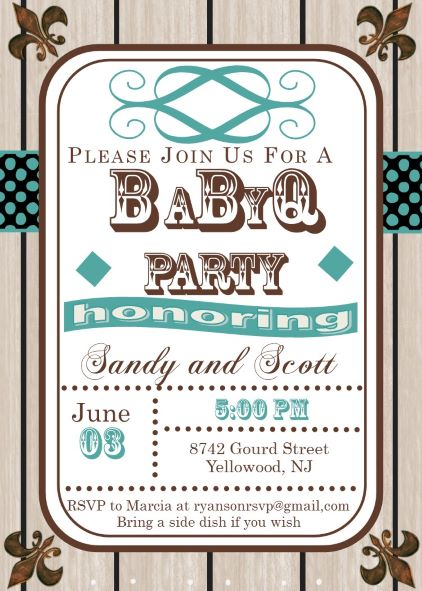 baby shower rustic invitation babyq