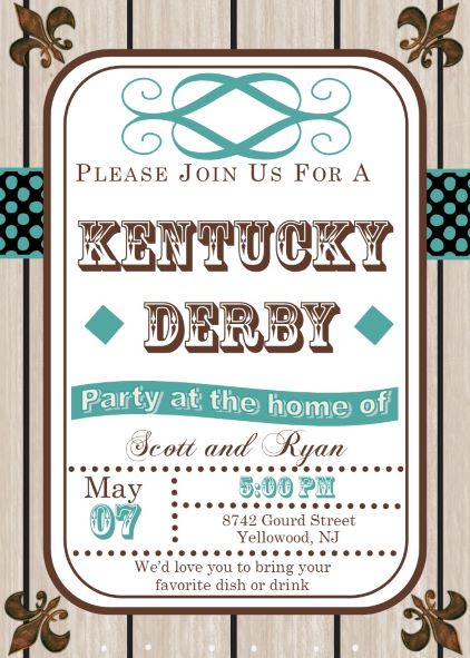 Kentucky Derby Party Invitations May 5 2018 – Derby Party Invitations