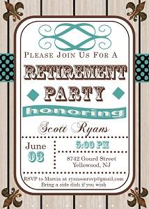 retirement party invitations custom designed new for spring 2017, Party invitations