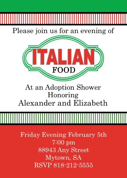 Baby and Children Adoption Shower invitations NEW selections spring 2018