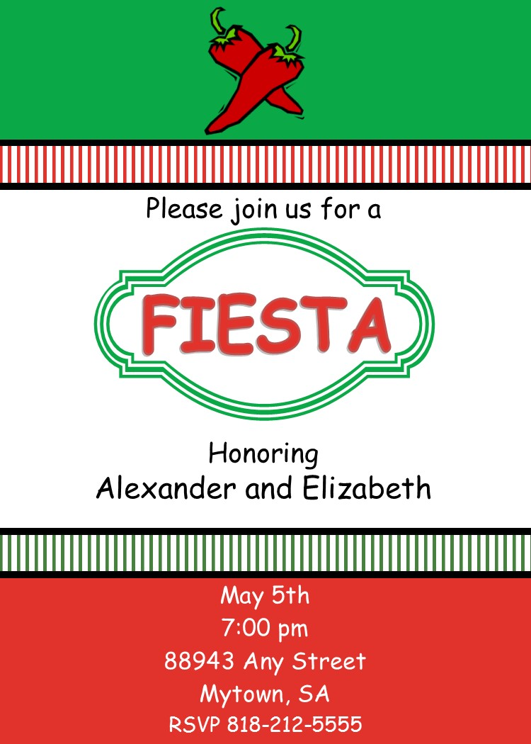 Cinco de Mayo party Invitations New for May 5 2018