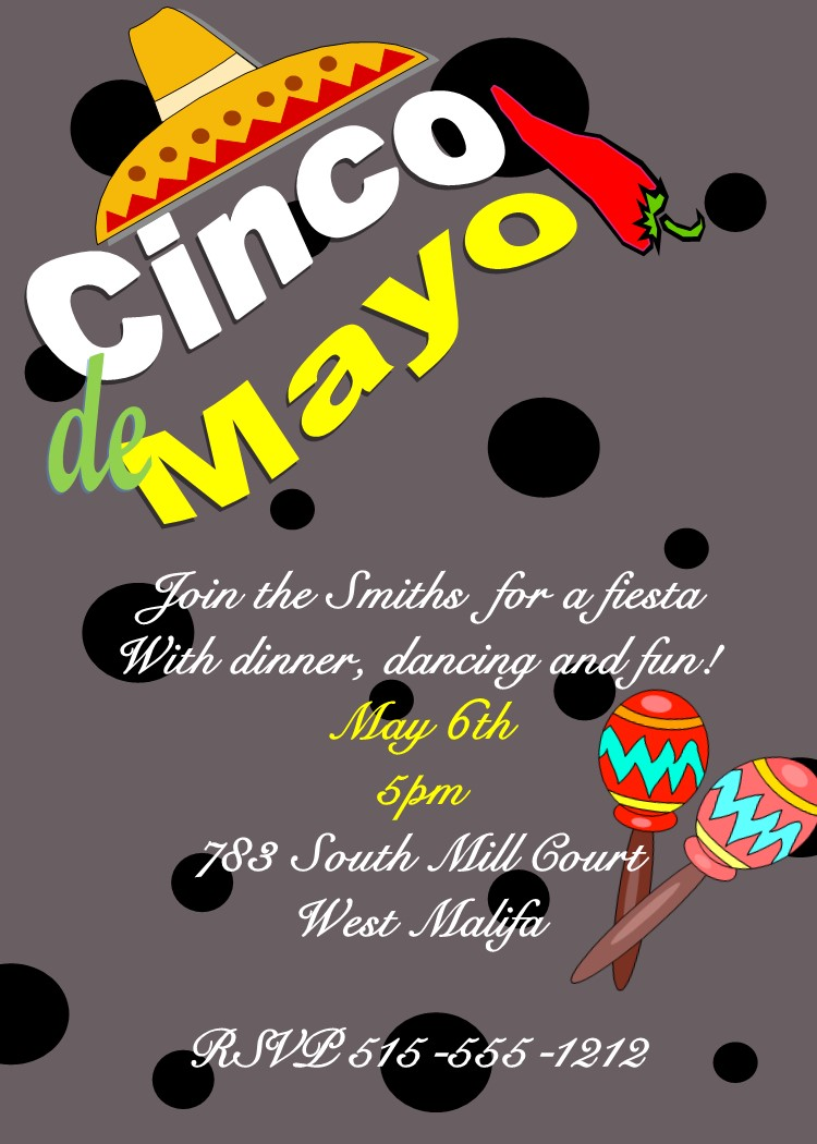 Mexican and Hispanic fiestas Party invitations NEW selections Summer ...