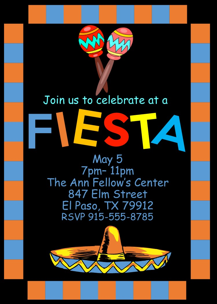 Mexican and Hispanic fiestas Party invitations NEW selections spring ...