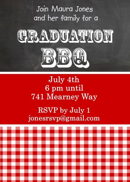 Graduation Party Invitations High school or college Graduation – Graduation Cookout Invitations