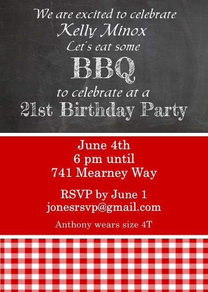 21st Birthday Party invitations NEW selections spring 2018