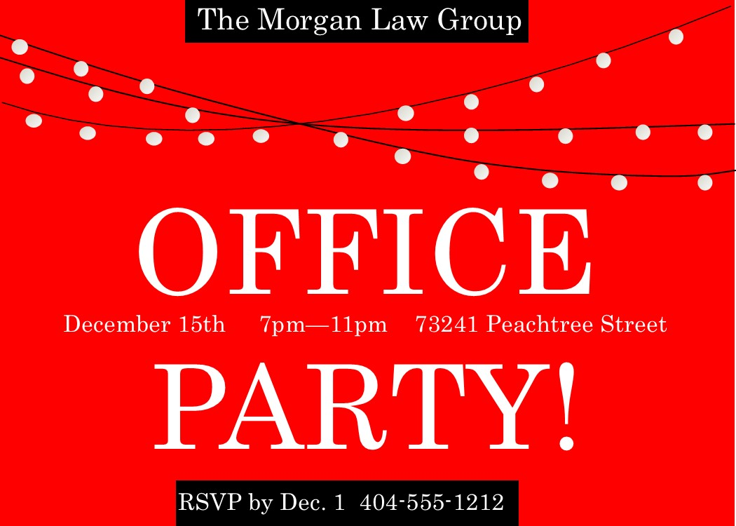 Company Christmas Party Invitations New Selection for 2017 – Invitations for Christmas Party