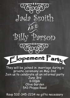 Elopement Party Invitations New Selections Winter 2018