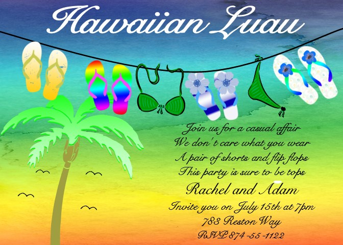 luau party invitations tropical beach party fall 2018