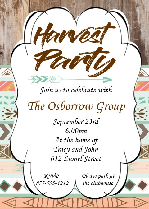 fall and autumn party invitations 2017, Party invitations