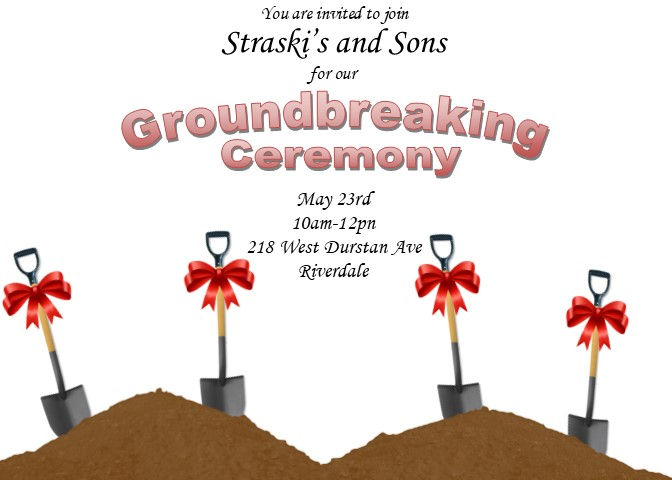 Grand Opening Invitations And Ground Breaking Invitations