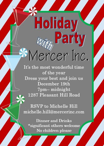Office Holiday and Christmas Party Invitations 2018