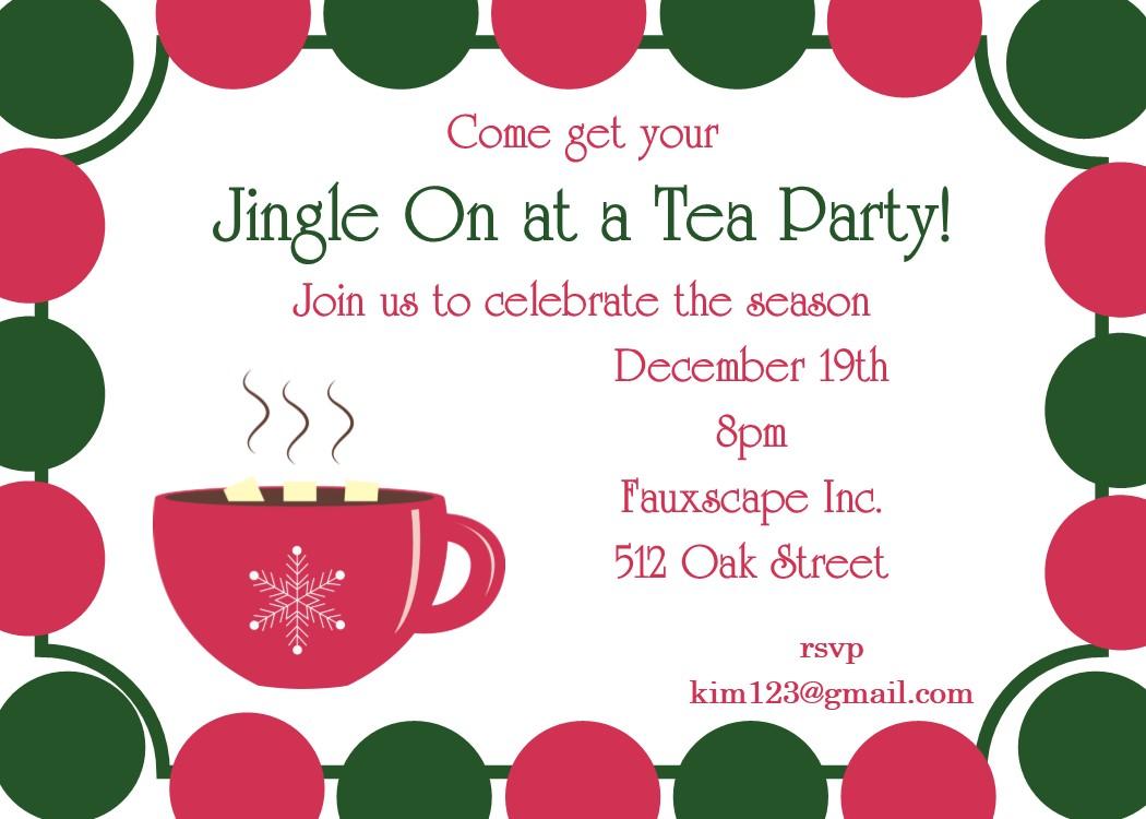 Christmas Tea Party Invitations 2018