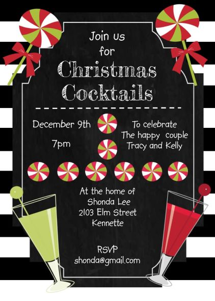 christmas cocktail party invitations large selection 2018