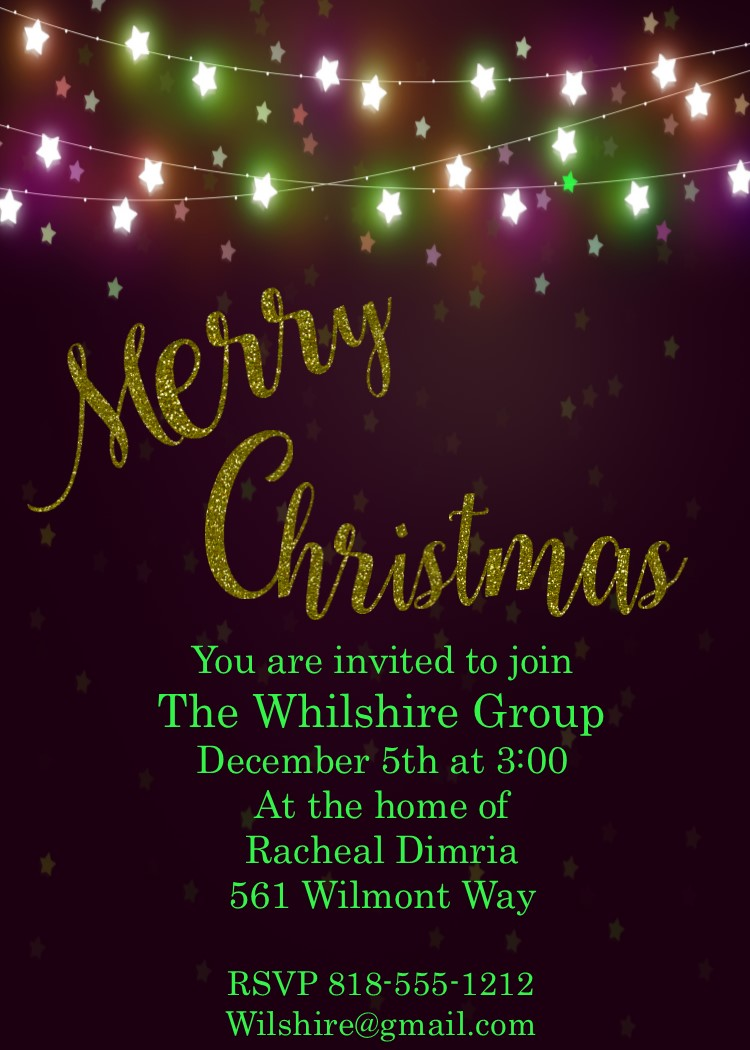 Office Christmas Party Invitation.Office Holiday And Christmas Party Invitations 2019