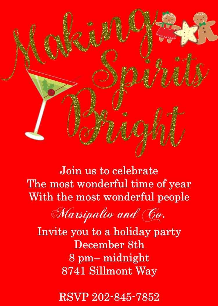 150 Corporate Christmas Party Invitations