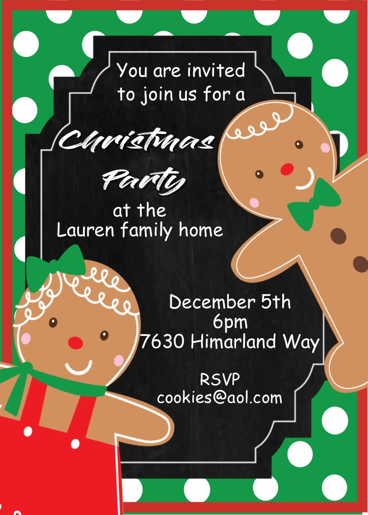 Family Christmas Party Invitations