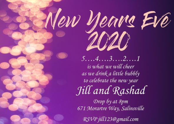 in the lights new years eve party invitations