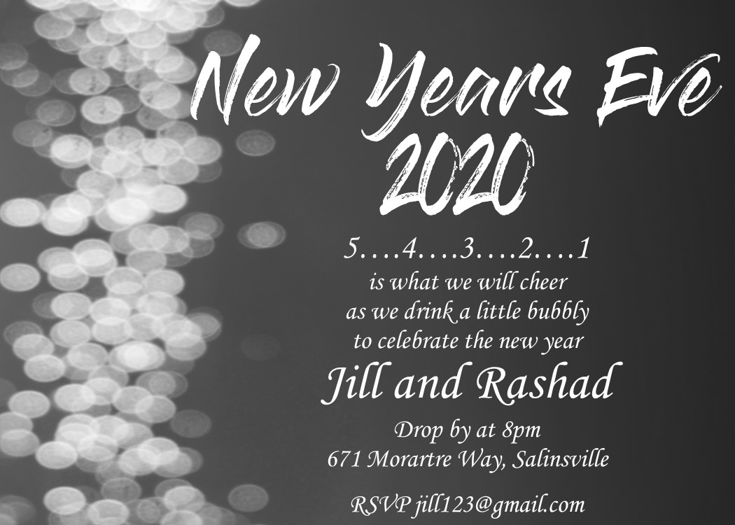 new years eve party invitations 2018