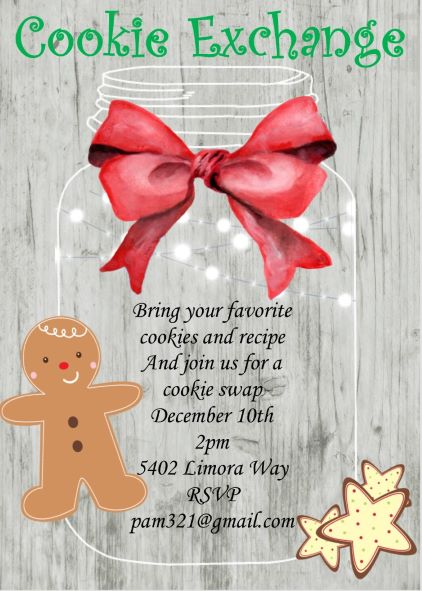 Christmas Cookie Party Invitations New Selections For 2019