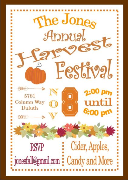 harvest party invitation - Engne.euforic.co