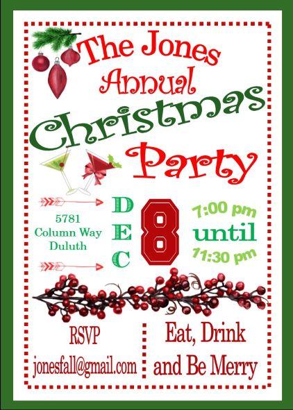 christmas party e invitations - Forte.euforic.co