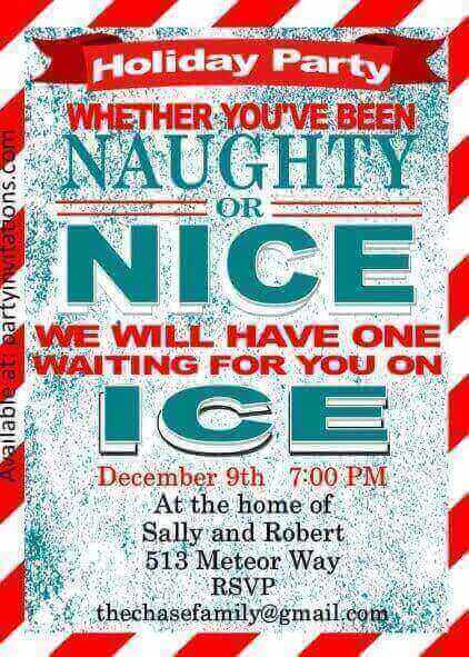 Naughty Or Nice Christmas Party Ideas Part - 24: Naughty And Nice Christmas Party Invitations