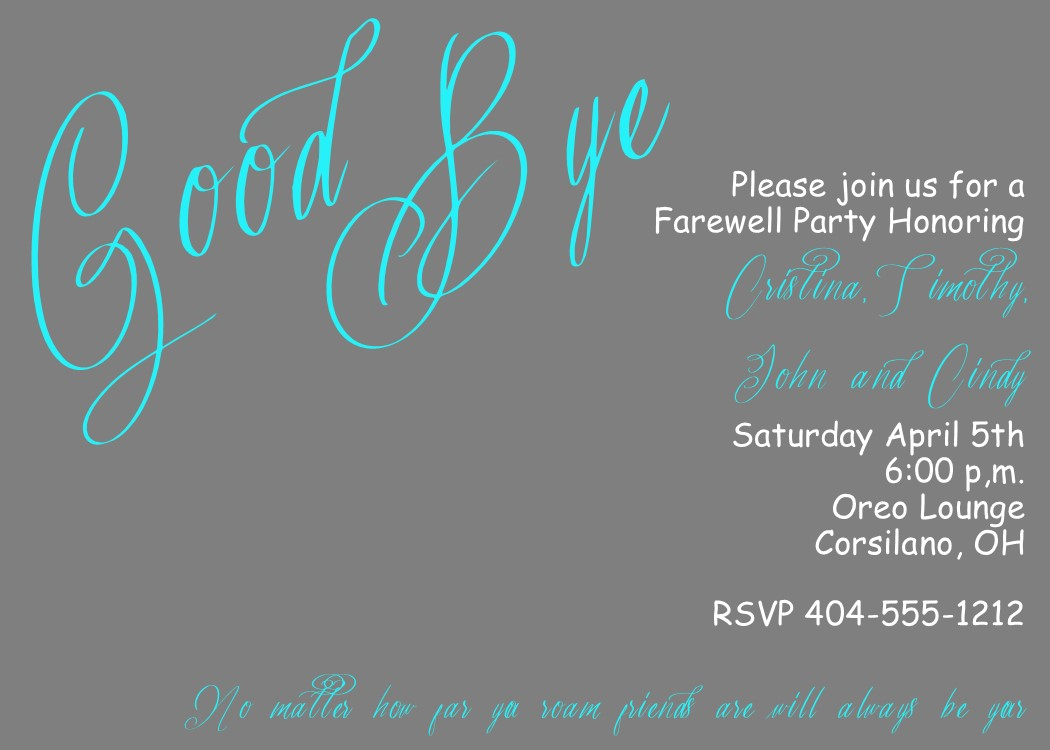 farewell invitation to colleagues | just b.CAUSE
