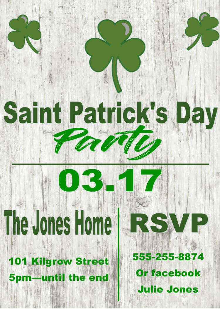 St. Patrick\'s Day Party Invitations- St Patty\'s day - 2018