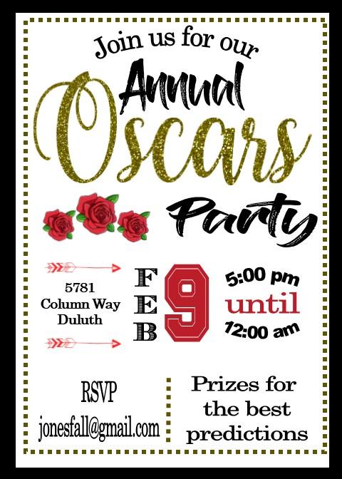 Academy Awards Party Invitations Annual Oscar Awards Party Invitations