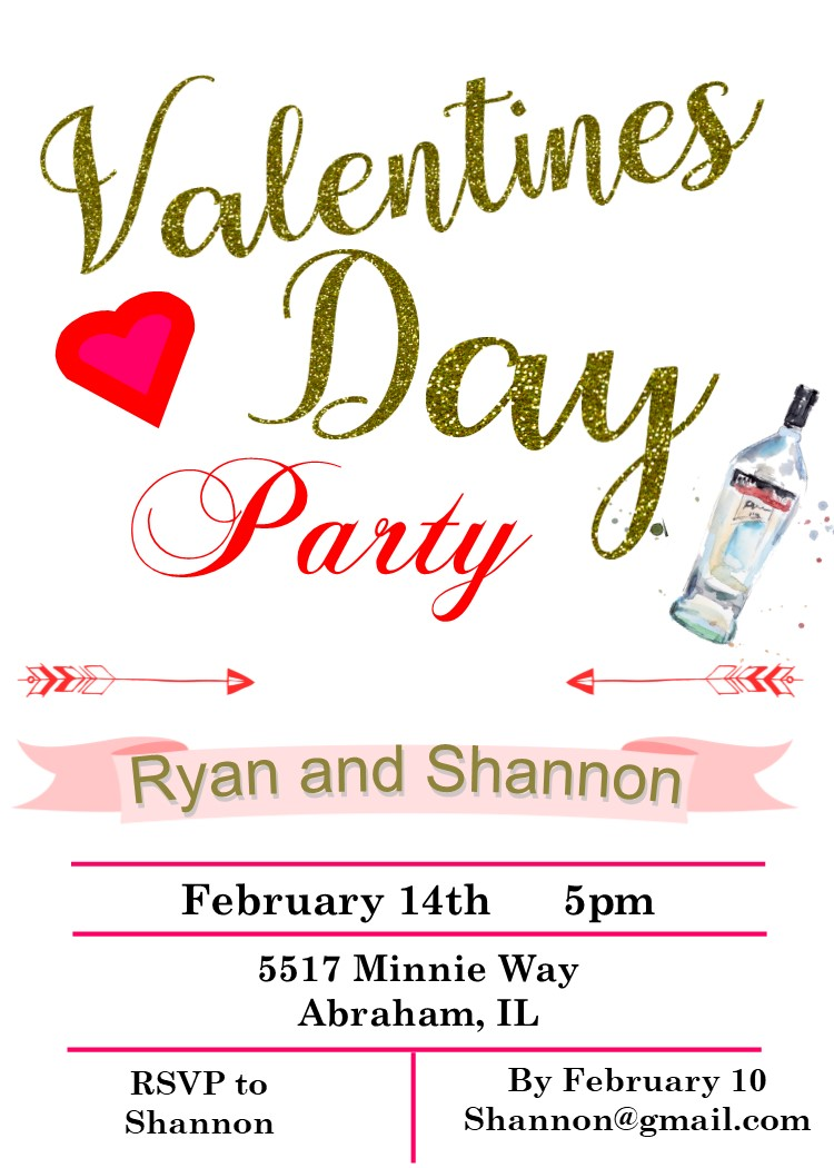 Valentine\'s Day Party Invitations 2018