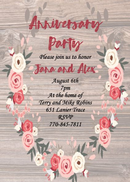 Anniversary Party invitations NEW selections Summer 2018