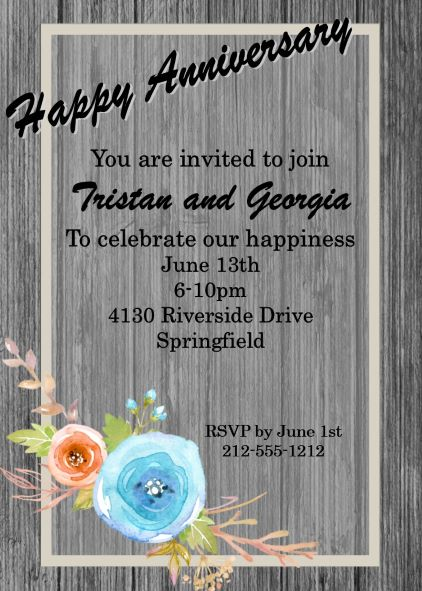 Anniversary Party invitations NEW selections spring 2018