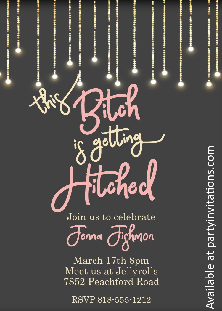 Bachelorette Party Invitations New Selections Winter 2019