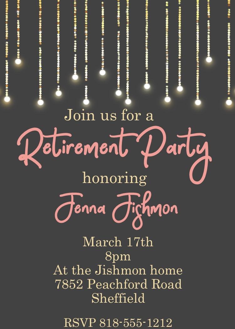 retirement party invitations custom designed new for winter 2018