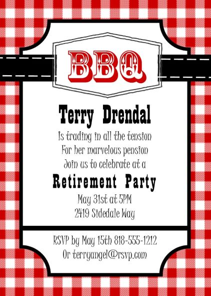 retirement party invitations    custom designed new for