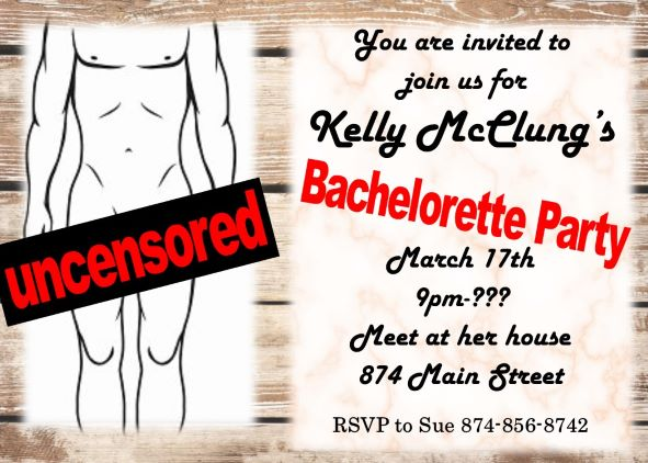 Bachelorette Party invitations NEW selections Fall 2018