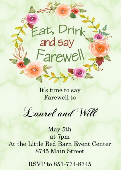 going away party invitations new selections spring 2020