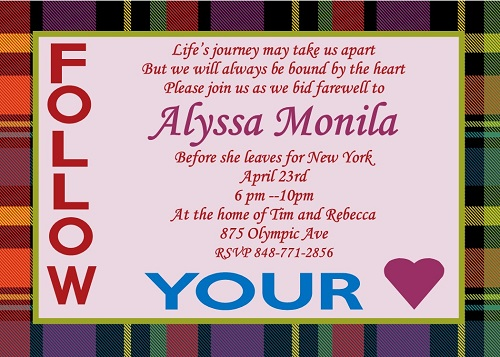 Going Away Party invitations NEW selections Winter 2017 – New York Party Invitations