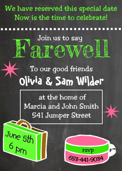 going away party invitation invitations and announcements - Going Away Party Invite