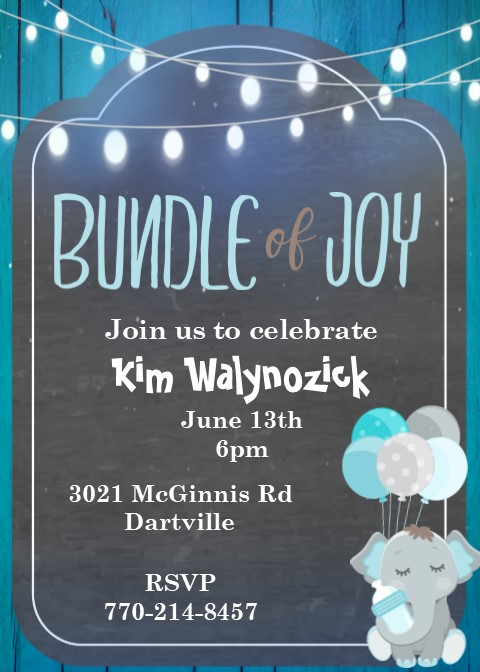 Baby shower invitations for couples fall 2018 partyinvitations elephant oh baby couples baby shower invitations filmwisefo