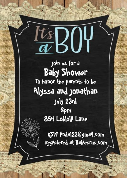 Boy baby shower invitations new selections fall 2018 burlap and lace boy baby shower invitations filmwisefo