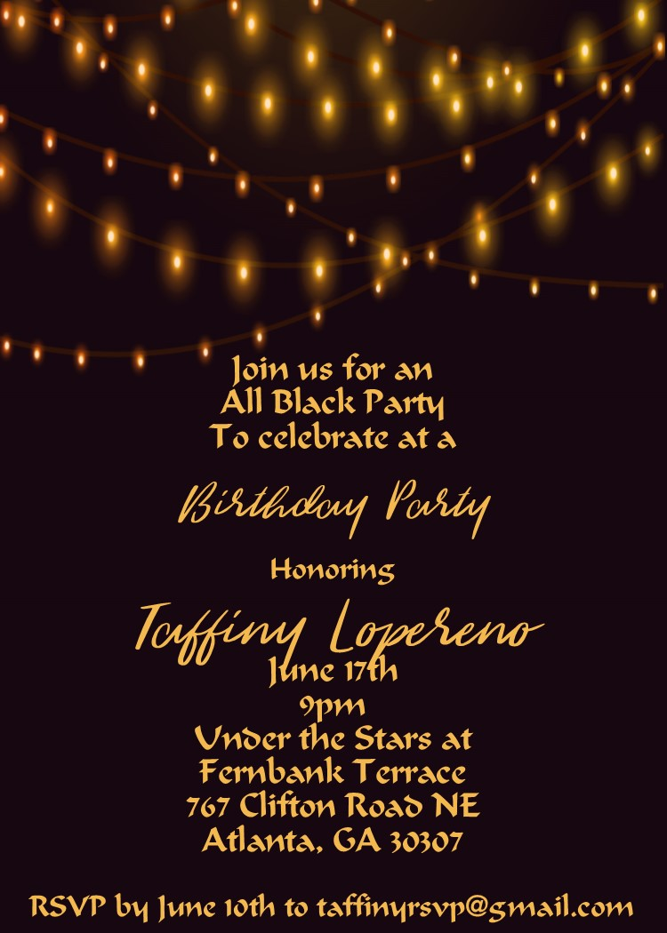 Stargazing 21st Birthday Party Invitation