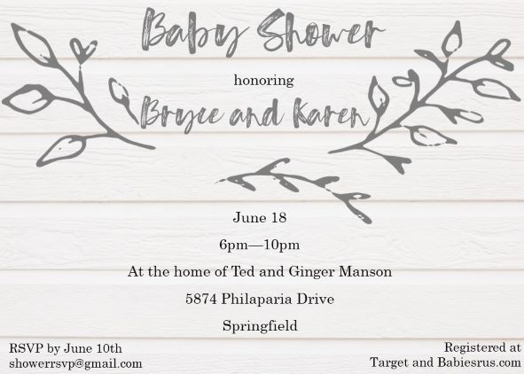 Baby Shower Invitations for Couples | Fall 2018 - Partyinvitations.com