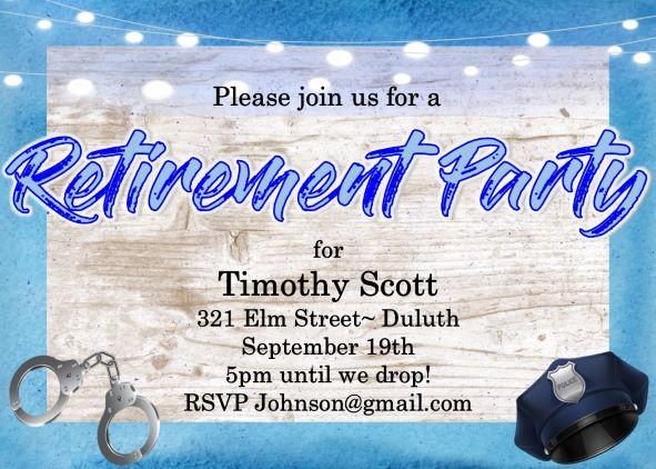 Retirement Party Invitations Custom Designed New For Summer 2019