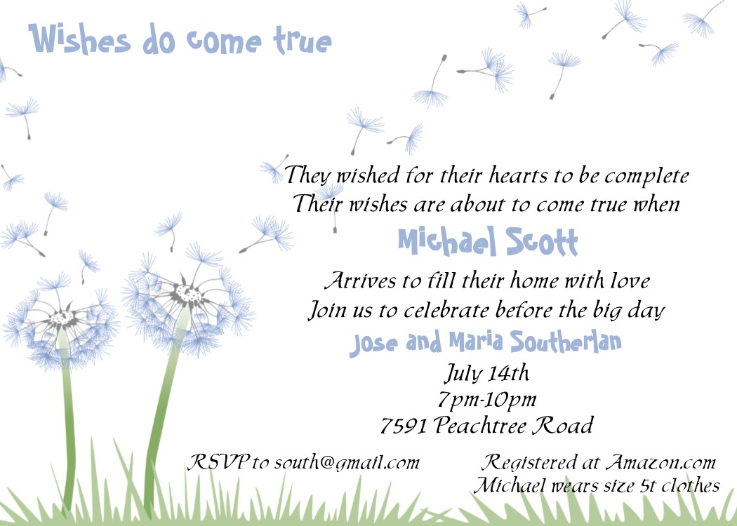 Baby And Children Adoption Shower Invitations NEW Selections Summer 2019