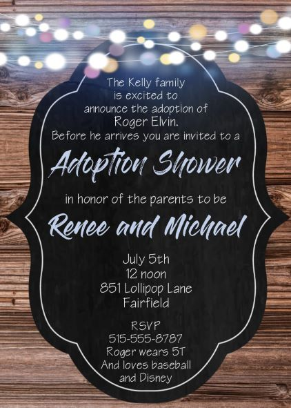 Baby And Children Adoption Shower Invitations New