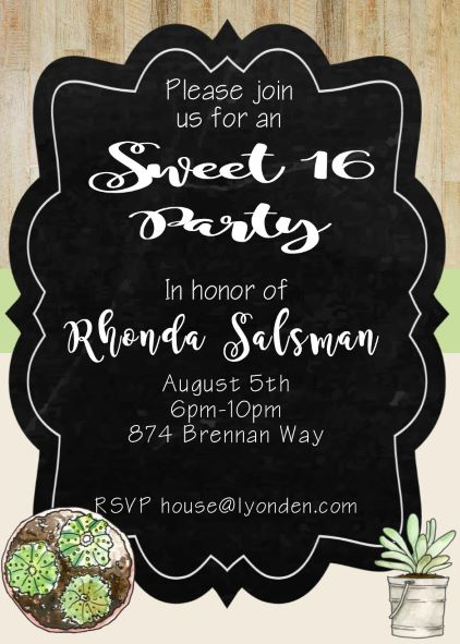 sweet sixteen 16 party invitation new selections fall 2018