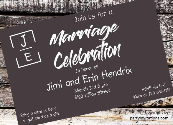 Elopement Wedding Invitations: Elopement Party Invitations Reception Only Invitations