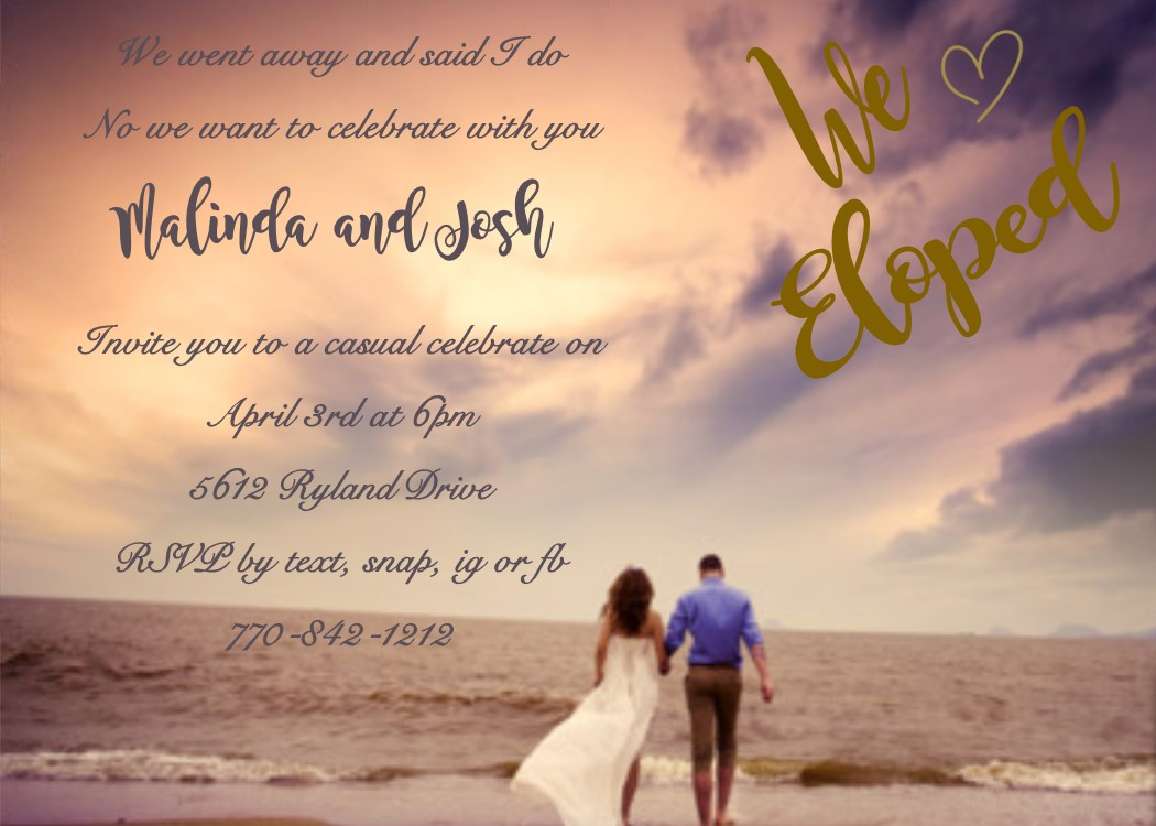 After Wedding Party Invitation: Elopement Party Invitations Reception Only Invitations